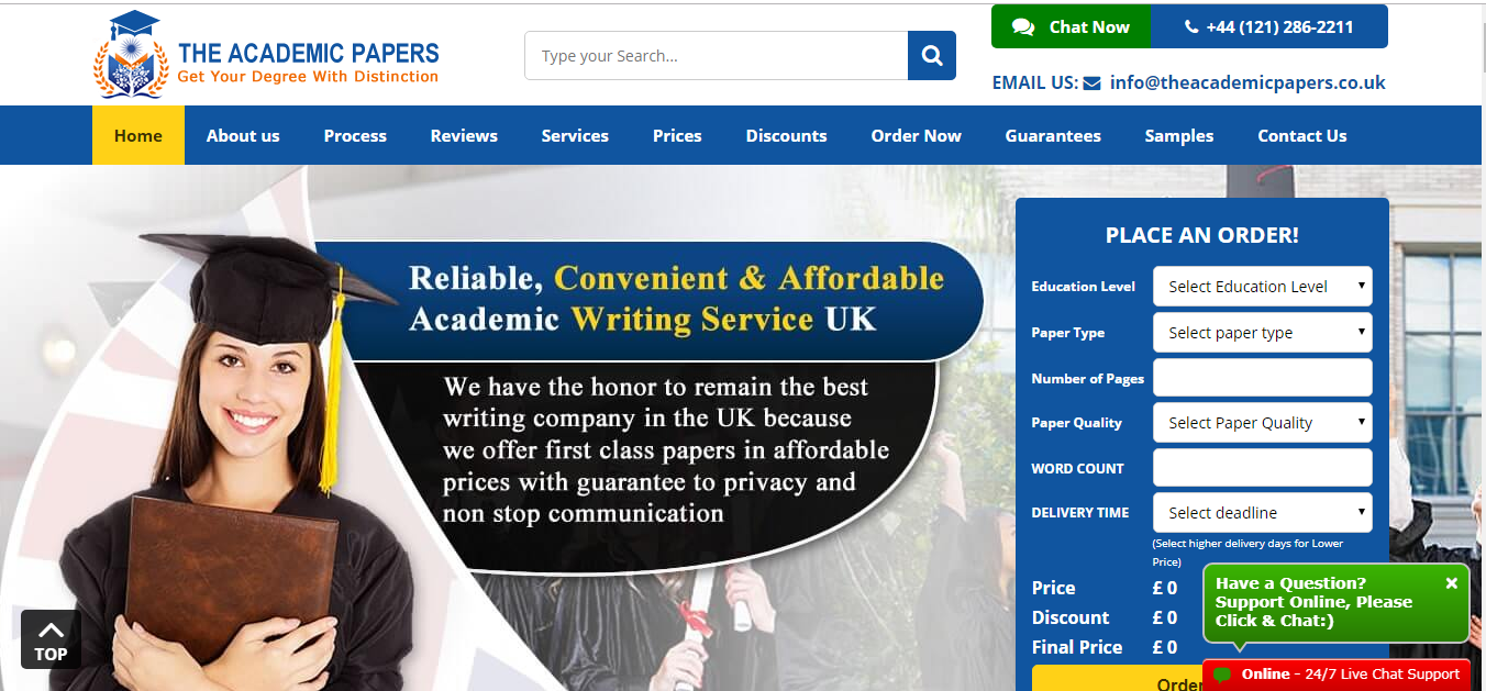 The academic papers UK